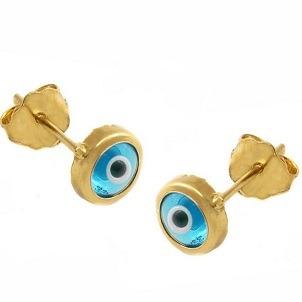 Ασημένια σκουλαρίκια μάτια